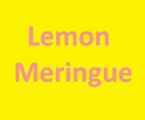 Lemon Meringue Mango